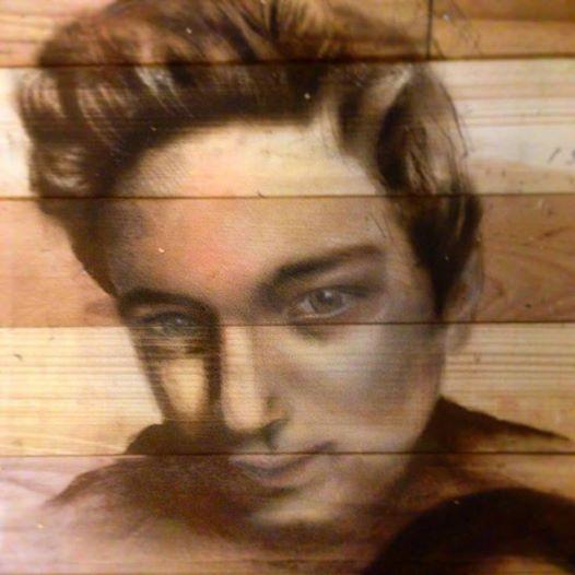 portre ahsap tablo ferhan dilek uluocak wood paint