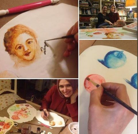 ferhan dilek uluocak 3d butik pasta resimleme dersi cake paint art