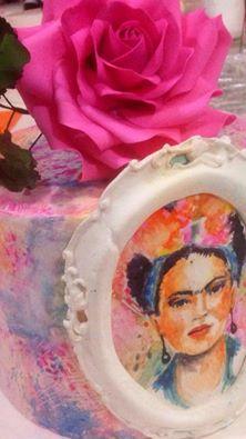 ferhan dilek uluocak frida butik pasta resimleme ders cake paintin sugar paste
