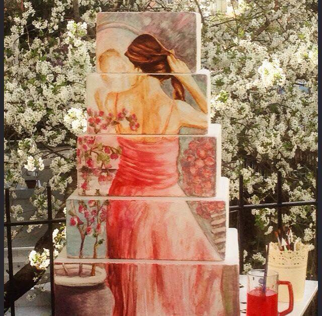 ferhan dilek uluocak ibatech 2016 butik pasta resimleme boutique cake paint