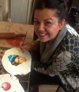 ferhan dilek uluocak butik pasta resimleme ders cake painting sugar paste design kurs seker hamuru