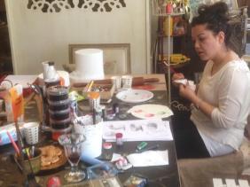 ferhan dilek uluocak butik pasta resimleme ders cake painting sugar paste design