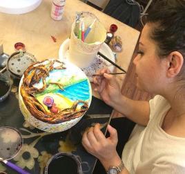 ferhan dilek uluocak butik pasta resimleme ders kurs cake painting sugar paste design