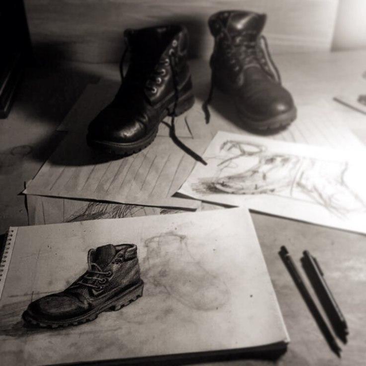 ferhan-dilek-uluocak-fondant-painting-sketch-resim-ders-isik-golge-shoe