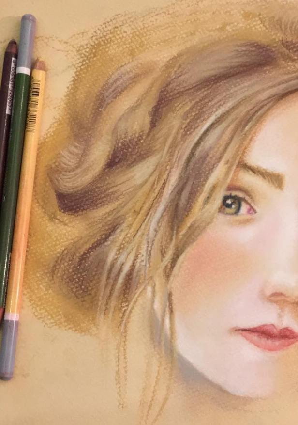 soft pastel portrait toz pastel portre resim cizim desen karakalem sketch painting ferhan dilek uluocak