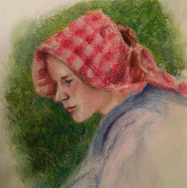 ferhan dilek uluocak soft dry pastel painting resim cizim portrait pastel boyama art sanat resim dersi atolye